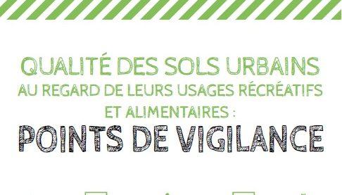 """Etude """"Qualité des sols urbains : points de vigilance"""